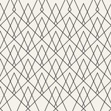 Abstract concept vector monochrome geometric pattern. Black and white minimal background. Creative illustration template Royalty Free Stock Image