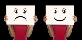 Abstract concept voor depressie Stock Afbeeldingen