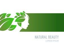 Abstract concept voor schoonheidssalon, schoonheidsmiddelen, kuuroord, natuurlijke healtcare Stock Afbeelding