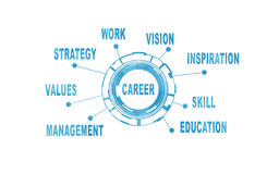 Abstract concept. Work, study and career Royalty Free Stock Photo