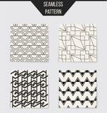 Abstract concepten zwart-wit geometrisch patroon Zwart-witte minimale achtergrond Creatief illustratiemalplaatje naadloos Royalty-vrije Stock Fotografie