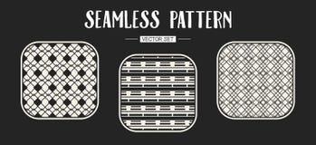 Abstract concepten zwart-wit geometrisch patroon Zwart-witte minimale achtergrond Creatief illustratiemalplaatje naadloos Royalty-vrije Stock Foto