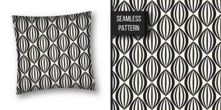 Abstract concepten zwart-wit geometrisch patroon Zwart-witte minimale achtergrond Creatief illustratiemalplaatje naadloos Stock Fotografie