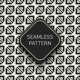 Abstract concepten zwart-wit geometrisch patroon Zwart-witte minimale achtergrond Creatief illustratiemalplaatje naadloos Stock Afbeeldingen