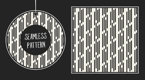 Abstract concepten zwart-wit geometrisch patroon Zwart-witte minimale achtergrond Creatief illustratiemalplaatje naadloos Royalty-vrije Stock Foto's
