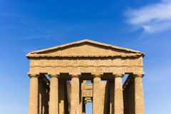 Abstract and conceptual of ancient Greece in Agrigento. The Greek Temple of Concordia, the ancient city of Akragas, located in the valley of the temples of Stock Images