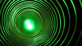 Abstract conceptual background with futuristic high tech wormhole tunnel stock video