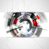 Abstract conceptual digital computer technology business backgro Stock Photo