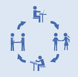 Abstract conceptual image of business Customer Relationship cycle, can use as background Stock Photos