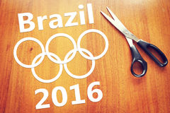Abstract conceptual image about Olympics in Brazil Stock Photography