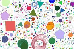 Abstract conceptual mixed pattern. Art, background, color & sphere. Abstract conceptual mixed pattern. Good for web page, graphic design, catalog, texture or Royalty Free Stock Image