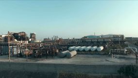 Abstract and conceptual of petroleum or refinery industry. Modern life, civilization, well-being, but also pollution and degradati. On stock video