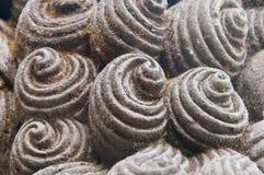 Abstract concreet artistiek spiraalvormig vormenartefact Royalty-vrije Stock Afbeelding