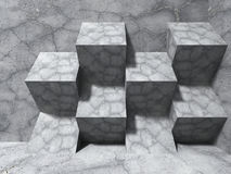 Abstract concrete architecture background. Cubes modern design c Stock Photography