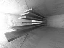 Abstract concrete architecture background. Empty dark room. 3d render illustration vector illustration