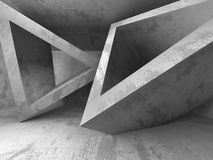 Abstract concrete architecture background. Empty dark room. 3d render illustration Royalty Free Stock Image