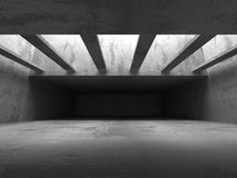 Abstract Concrete Architecture Background. Empty Dark Room Stock Photos