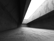 Abstract Concrete Architecture Background. Empty Dark Room. 3d Render Illustration Stock Photo