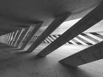 Abstract Concrete Architecture Background. Empty Dark Room Stock Image
