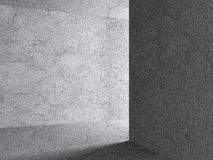 Abstract Concrete Architecture Background. Empty Dark Room With Royalty Free Stock Photos