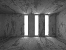 Abstract Concrete Architecture Background. Empty Dark Room With. Light. 3d Render Illustration Royalty Free Stock Photography