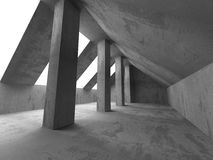 Abstract Concrete Architecture Background. Empty Dark Room With. Light. 3d Render Illustration Royalty Free Stock Image