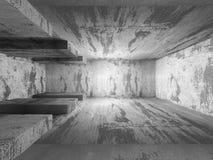 Abstract concrete architecture basement room geometric backgroun. D. 3d render illustration Stock Photo