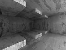Abstract Concrete Architecture Construction Empty Room Backgroun Royalty Free Stock Images