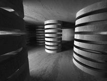 Abstract Concrete Architecture Construction Empty Room Backgroun Royalty Free Stock Photos
