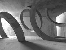 Abstract Concrete Architecture Construction Empty Room Backgroun Royalty Free Stock Photo