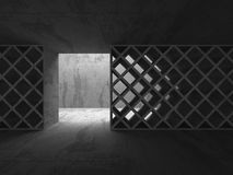 Abstract Concrete Architecture Construction Empty Room Backgroun Stock Images
