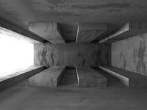 Abstract concrete architecture dark background. 3d render background stock illustration
