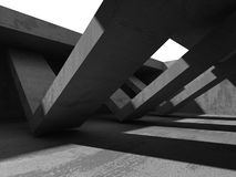 Abstract concrete architecture dark background. 3d render background Stock Image