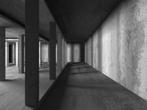 Abstract concrete architecture dark background. 3d render background Royalty Free Stock Image