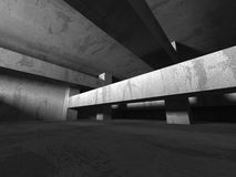 Abstract concrete architecture dark background. 3d render background Royalty Free Stock Images