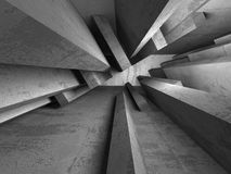 Abstract concrete architecture dark background. 3d render background Royalty Free Stock Photography