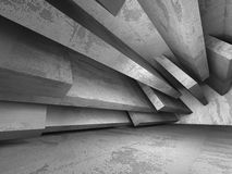 Abstract concrete architecture dark background. 3d render background Stock Photography