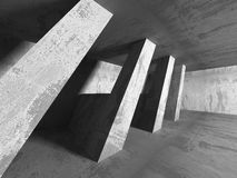 Abstract concrete architecture dark background. 3d render background Royalty Free Stock Photos