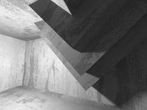 Abstract concrete architecture dark background. 3d render background Stock Photo