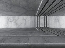 Abstract concrete architecture. Dark empty room. 3d render illustration Stock Photo