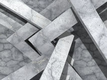Abstract concrete architecture geometric design background. 3d render illustration Royalty Free Stock Images