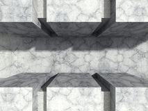 Abstract concrete architecture urban stone wall background. 3d render illustration Stock Photos