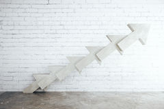 Abstract concrete arrow ladder Royalty Free Stock Images