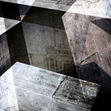 Abstract concrete background, 3 d render. Abstract concrete background, intersected walls and girders, square illustration with double exposure effect, 3d render Stock Image