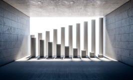 Abstract concrete pillar. Abstract concrete columns 3d rendering image Stock Photos