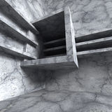 Abstract concrete construction. Architecture industrial geometri Royalty Free Stock Photo