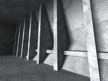 Abstract concrete construction. Empty urban room interior Royalty Free Stock Photography