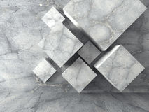 Abstract concrete cubes design architecture background Royalty Free Stock Photo
