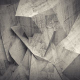 Abstract concrete 3d background, wall with relief Stock Images