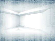 Abstract concrete 3d interior background Stock Photos